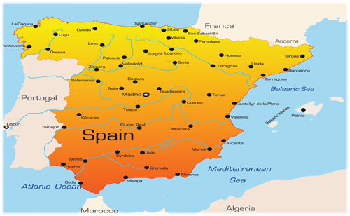 西班牙地图及大学分布